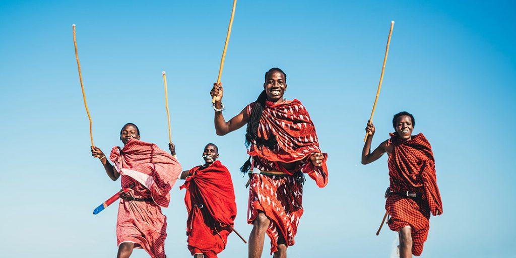 Masais en kenya